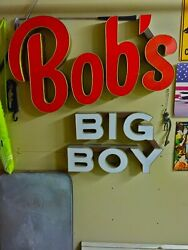 Boband039s Big Boy Outdoor Neon Sign Andnbsp Andnbsprare Andnbspfrom The 1960and039s Andnbsplook