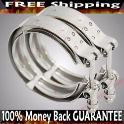 2pcs Mild Steel 3and039and039 V-band Clamp For Turbo Exhaust Downpipes Piping