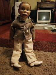 Vintage 1930and039s Effanbee Charlie Mccarthy Ventriloquist Dummy Composite 17 Inches