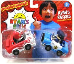 Ryanand039s World Police Car And Hot Rod 3 Racers 2 Pack - Pull Back Action
