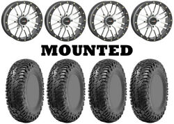Kit 4 Cst Lobo Rc Tires 32x10-14 On System 3 St-3 Machined Wheels Irs