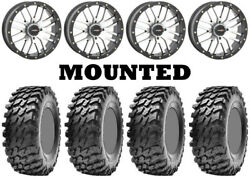 Kit 4 Maxxis Rampage Tires 32x10-14 On System 3 St-3 Machined Wheels H700
