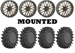 Kit 4 Sti Outback Max Tires 28x10-14 On System 3 St-3 Bronze Wheels Fxt