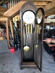 The Herschede Hall Clock Grand Prize Grandfather Clock For Restoration
