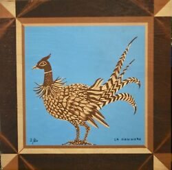 Mady Of The Giraudiandegravere - Rare Print On Wood - Lithography - The Pheasant