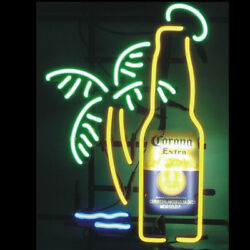 Neon Signs Gift Corona Extra Bottle Beer Bar Pub Store Room Wall Decor 19x15