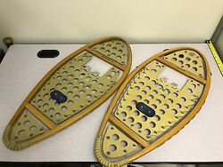 Vintage Wooden Snowshoes - Freetrail Brand - Made In Canada - 14 X 30