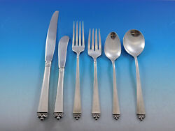 Satin Beauty By Oneida Sterling Silver Flatware Set For 8 Service 55 Pieces