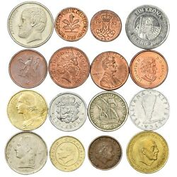 16 Different Coins From Capitalist Countries, Nato, Western Block Coins