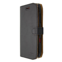 caseroxx Bookstyle-Case for Crosscall Action-X3 in black made of real leather
