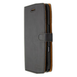 caseroxx Bookstyle-Case for Crosscall Trekker-X4 in black made of real leather