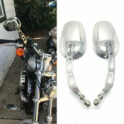 Motorcycle Chrome Side Mirrors For Harley Davidson Softtail Slim/deluxe Fatboy