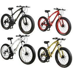 26 21 Speed 4.0 Fat Tire Mountain Bike Snow Bicycle Grass Sand Fatbike Mens