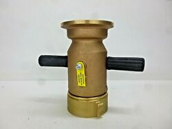 New Elkhart Brass Industrial Fire Hose Nozzle, 2-1/2 In.
