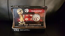 Toronto Raptors 2019 Nba Champions Silver Coin Card Stand Special Edition