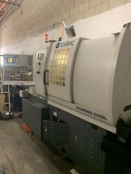 CUBIC Diamond  32CSL 7 AXIS CNC SWISS LATHE AND BAR LOADER+VIDEO INSPECTION