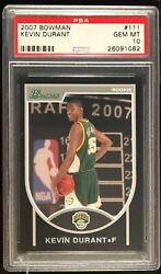 2007 Bowman Kevin Durant #111 PSA 10 condition rarity VERY tough in PSA 10 POP 6