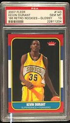 2007 Fleer GLOSSY Kevin Durant #143 condition rarity! VERY tough in PSA 10 POP 6