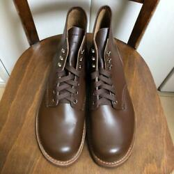 70and039s Red Wing Brown Shoes Men Vintage Old Model Made In Usa Leather Rare F/s