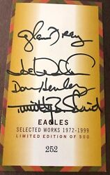 Eagles 1972-1999 Selected Works Autographed Cd Collection Limited Ed 252 Of 500