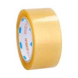 2 Inch X 110 Yards Yellow Transparent Hybrid Packing Tape 2 Mil 1368 Rolls