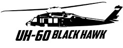Uh 60 Black Hawk Helicopter Airplane Outline Sticker Decal Wall Graphic