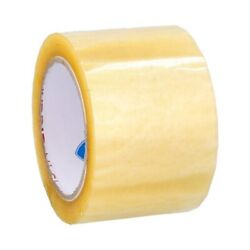 3 Inch X 110 Yards Yellow Transparent Hybrid Packing Tape 2 Mil 912 Rolls