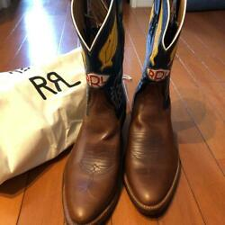 Rrl Men Boots Leather Brown Made In Usa Us8d Western Fashion