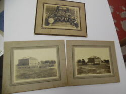 C.1912 Galveston Texas Salvation Army Mounted Photo Lot Brass Band Antique Orig.