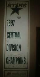 1 Of A Kind Dallas Stars Team Signed Street Banner From The 1997 Season