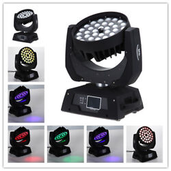 8pc 3618w Rgbwap 6in1 Led Moving Head Zoom Moving Head Wash Light /2in1 Case