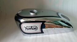 Fit For Norton International Silver Paint And Chrome Gas Fuel Petrol Tank