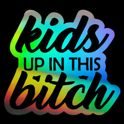 2PCS Car Sticker Window Vinyl Laptop Home Wall Kids UP IN THIS bitch Truck Decal