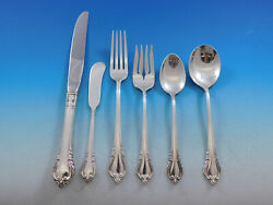 Grand Recollection By International Sterling Silver Flatware Set Service 56 Pcs