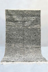 Moroccan Beni Ourain Rug - Speckled Black Berber Carpet, Newly Made In Morocco