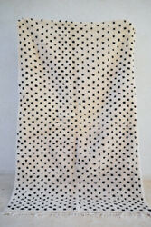 Spotted Moroccan Beni Ourain Rug Polka Dot Mid Century Modern Made In Morocco