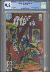 Tales Of The Teen Titans 52 Cgc 9.8 1985 First Azrael Appearance New Case