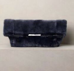 PINCH ME  ** CELINE ** RUNWAY 2012 FOLDED CLUTCH BAG IN MINK MIDGNIGHT $4,775.00