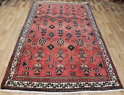 Old Hand Made Traditional Persian Rug 270 X 150 Cm Persian Tribal Rug