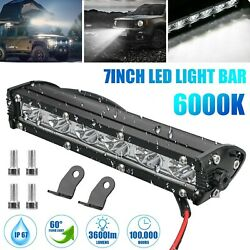 7and039and039 18w Spot Led Work Light Bar Lamp Driving Fog Offroad Suv 4wd Car Boat Truck