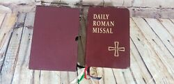 Daily Roman Missal, Isbn 0-87973-120-6 C. 1993, 1994 Bonded Leather And Case