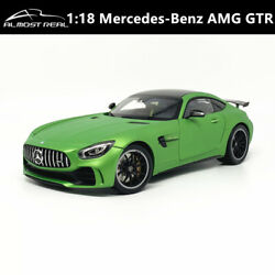 Mercedes-benz Amg Gt R Gtr Almostreal 118 Diecast Model Car Collection Green