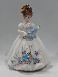 Josef Originals Lady With Parasol From Love Makes The World Go Round Series Mint