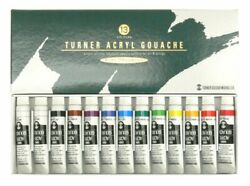 NEW Turner ACRYL GOUACHE School Set 12 Colors 13 Tubes (11ml Tube)