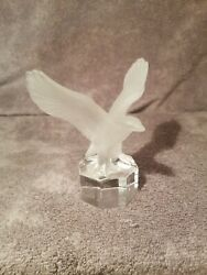 Goebel Crystal Frosted Eagle Figurine Paperweight 4 1/2 Tall