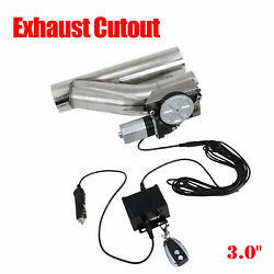 3 Electric Exhaust Downpipe Cutout E-cut Out Valve Controller Remote Kit New