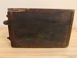 Antique Collectible Ford Model And039tand039 Type Wood Battery Box Ignition Coil