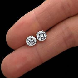 1Ct Round Cut Diamond 14K White Gold Over Women#x27;s Pretty Solitaire Stud Earrings $12.99