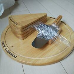 Dominos Pizza Novelty Wooden Plates Pizza Cutter Set Free Shipping From Japan