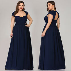 Ever-Pretty US Plus Long Celebrity Ball Gown Backless Formal Evening Dress 07949